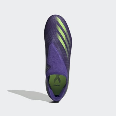 Fodbold Lilla X Ghosted.3 Laceless Firm Ground støvler