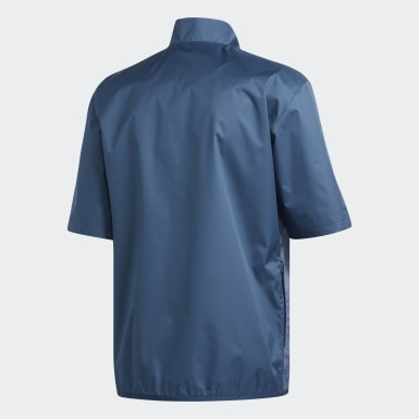 Men Golf Blue Climastorm Provisional Short Sleeve Jacket