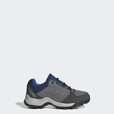 Kinder TERREX TERREX Hyperhiker Low Leather Wanderschuh Grau