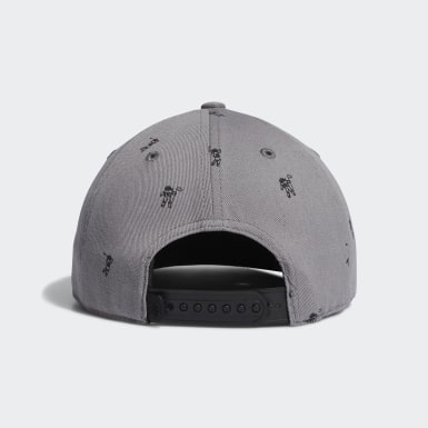 Boys Golf Grey Flat-Bill Cap