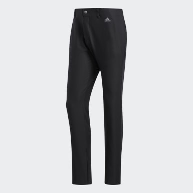 Pantaloni Ultimate365 3-Stripes Tapered Nero Uomo Golf