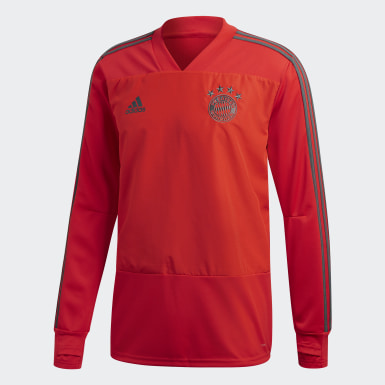 Men Football Red FC Bayern Training Top