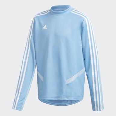Børn Fodbold Blå Tiro 19 træningstrøje