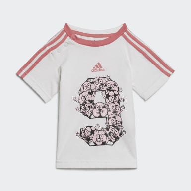 белый Комплект: шорты и футболка Lil 3-Stripes Sporty Summer