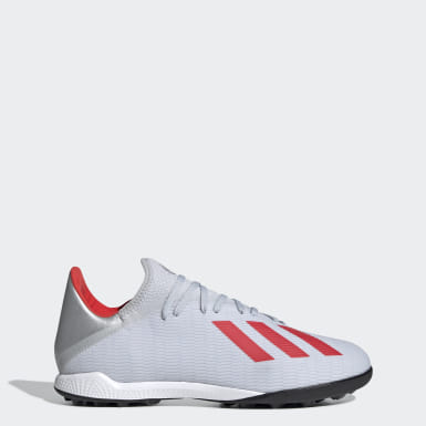 Zapatos de Fútbol X 19.3 Césped Artificial Plateado Hombre Fútbol