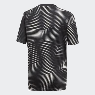 черный Домашняя предматчевая футболка Ювентус