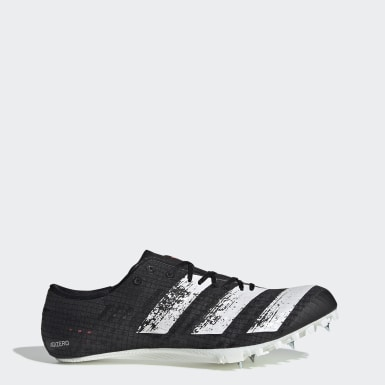 Running Black Adizero Finesse Spikes