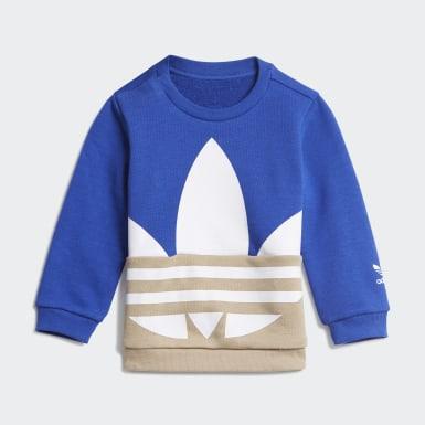 Conjunto Cuello Redondo Trifolio Grande Azul Niño Originals