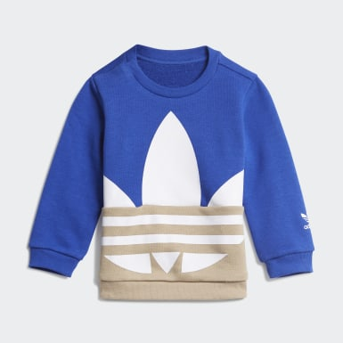 Infants Originals Blue Large Trefoil Crew Set