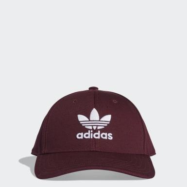 Originals สีแดงเบอร์กันดี หมวกเบสบอล Trefoil