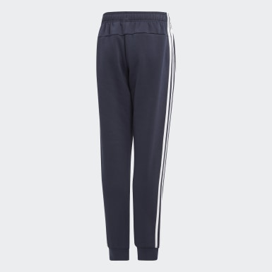 Boys Lifestyle Blue Essentials 3-Stripes Pants