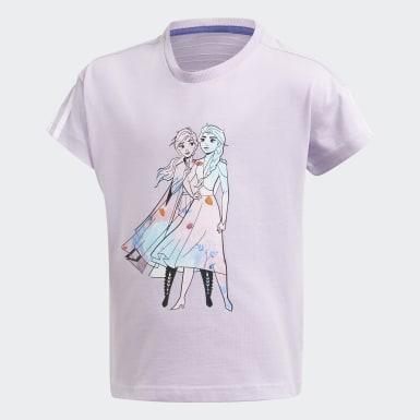 Meisjes Training Paars Disney Frozen T-shirt