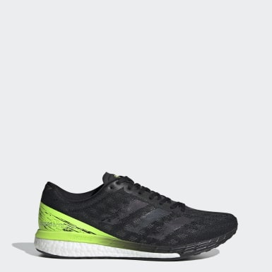 Men Running Black Adizero Boston 9 Shoes