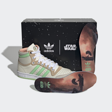 Tenis Mandalorian TOP TEN HI Beige Niño Originals