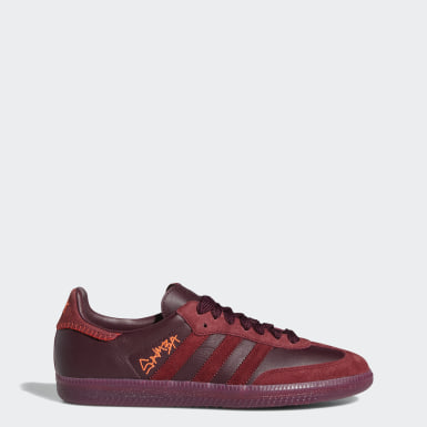 Jonah Hill Samba Shoes Bordowy