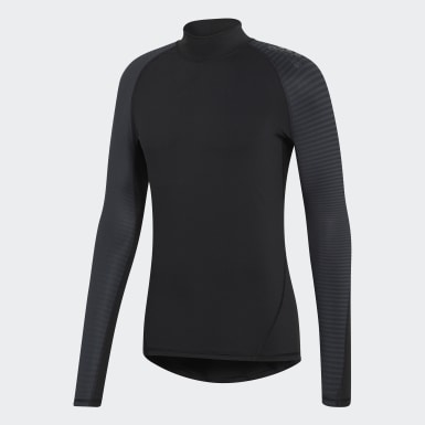 Men Training Black Alphaskin Climawarm Tee