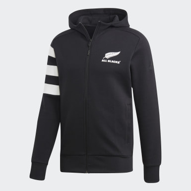 Men Rugby Black All Blacks Hoodie