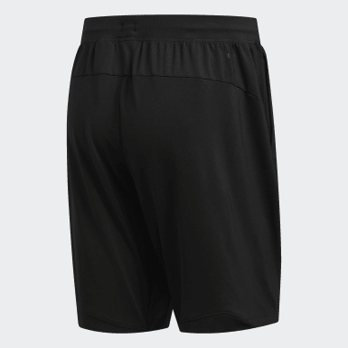 Men Yoga Black 4KRFT Sport Badge of Sport Shorts