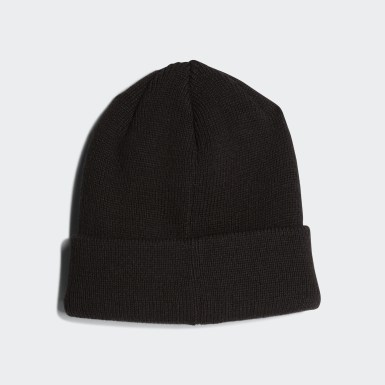 Children Originals Black Trefoil Beanie