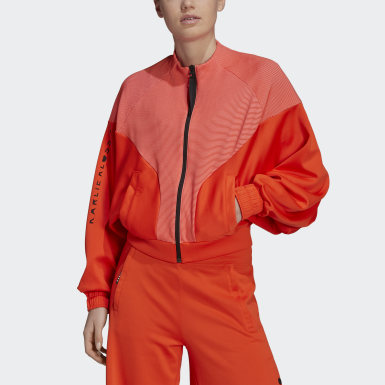 Frauen Training Karlie Kloss Cover-Up Jacke Orange