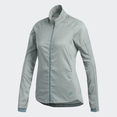 Women Running Green Supernova Confident Three Season Jacket