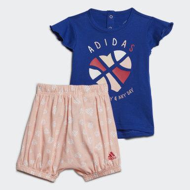 Girls Træning Blå Infants sommersæt