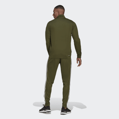 Men Athletics Green Athletics Tiro Track Suit