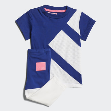 Kids Originals Blue EQT Tee and Leggings Set