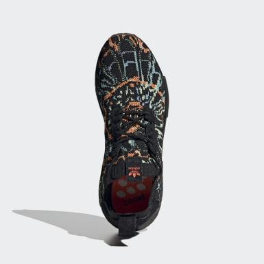 Erkek Originals Siyah NMD_R1 Primeknit Ayakkabı