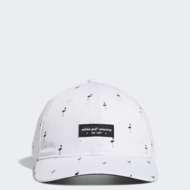 Men's Golf White Golf Flamingo-Print Hat