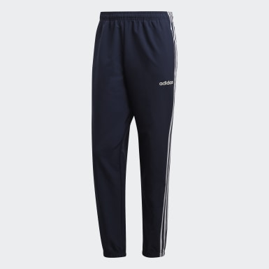 Essentials 3-Stripes Wind Pants Niebieski