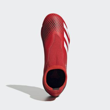 Boys Fotboll Röd Predator 20.3 Turf Boots