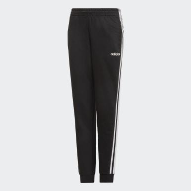 Girls Lifestyle Black Essentials 3-Stripes Pants