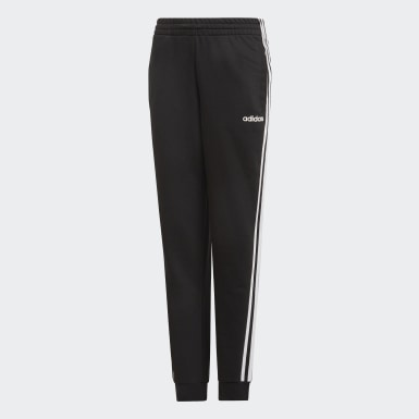 Girls Athletics Black Essentials 3-Stripes Pants