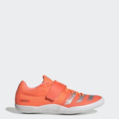 оранжевый Шиповки для легкой атлетики adizero discus/hammer