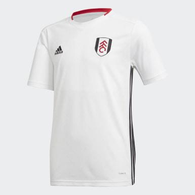 Boys Fodbold Hvid Fulham FC hjemmebanetrøje
