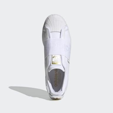 Men Originals White Superstar Slip-On Shoes