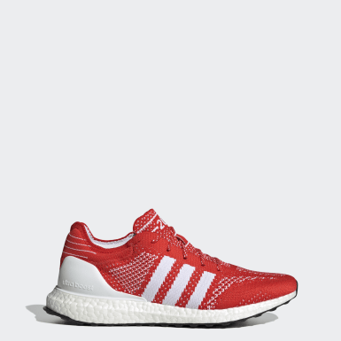 Men Running Red Ultraboost DNA Prime Shoes