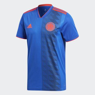 Réplica Camiseta de Visitante Selección Colombia Azul Hombre Fútbol