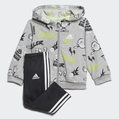 Παιδιά Training Γκρι French Terry Graphic Track Suit