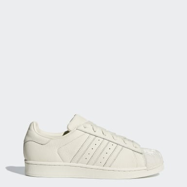 Women Originals Beige Superstar Shoes