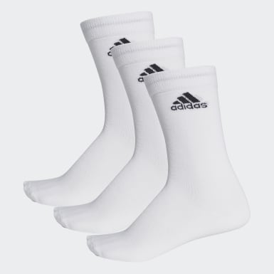 Training White Performance Thin Crew Socks 3 Pairs