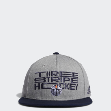 Men Training Multicolor Oilers Three Stripe Hockey Snapback Cap