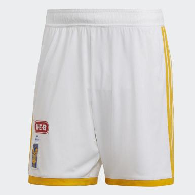 Shorts de Local Tigres UANL Blanco Hombre Fútbol
