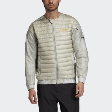 Men's Hiking Grey Terrex Hike Bomber Down Jacket