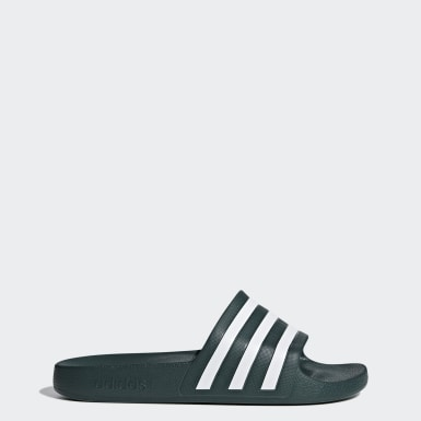 Originals Grey Adilette Aqua Slides