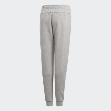 Girls Athletics Grey Linear Joggers