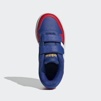 Deti Basketbal modrá Tenisky Hoops 2.0