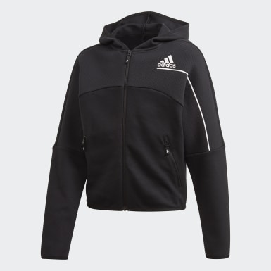 Hoodie adidas Z.N.E. Loose Full-Zip Nero Ragazza Athletics