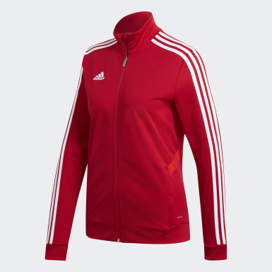 Women Soccer Red Tiro 19 Training Jacket